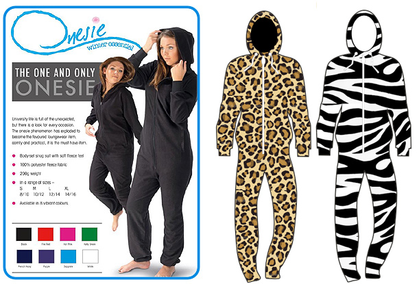 animal printed all over onesie
