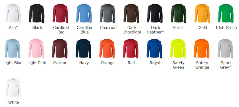 Similiar Gildan T Shirt Color Chart Keywords