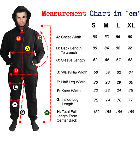 measurement chart for sizes